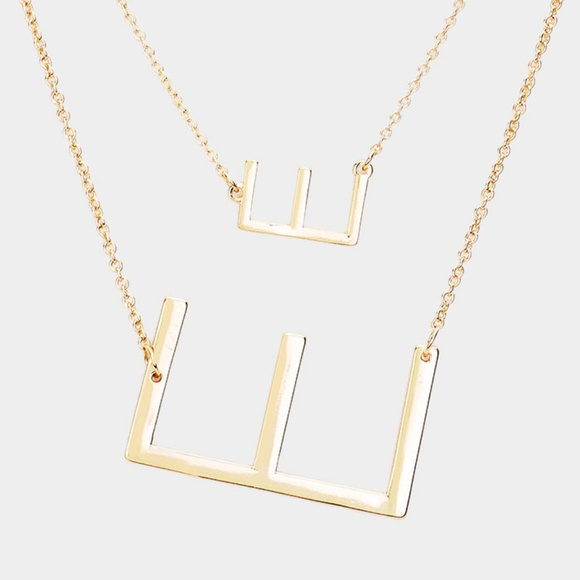 0844643bce Double 'E' Monogram Detachable Chain Necklace